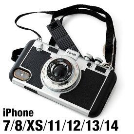 ★メール便送料無料★【iPhone11 iPhone11Pro iPhone11promax 11pro 11promax xr xs ケース カメラ型 カメラ 女性 人気 かわいい 可愛い ケース Plus カバー ネックストラップ ショルダー TPU 肩掛け 韓国 おもしろ 着せ替え iPhoneケース】i-PHOTO カメラ型ケース {3}