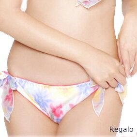 【Regalo】ふわふわシフォン☆パステル花プリント☆横ひもショーツ