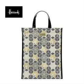 Harrods(ハロッズ) 正規品 PVC トートバック Harrods Metallic cube shopper Bag
