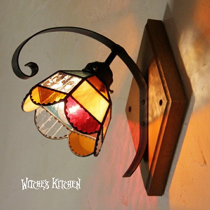 ブラケットライト 【Orangette・オランジェット】 LED対応 オレンジ 壁掛け照明 ステンドグラス ランプ ブラケットライト