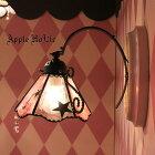 ◆ララLala◆ステンドグラスブラケットライト|壁掛け照明ランプLED対応スウィーツお茶会