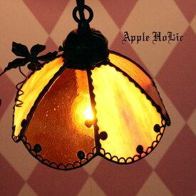ペンダントライト 【Jack-o'-Lantern Clochette・ジャック オー ランタン クロシェット】 LED対応 ハロウィン ステンドグラス ランプ