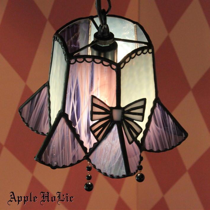 ペンダントライト 【Edelgerd・エデルガルド】 LED対応 リボン ステンドグラス ランプ