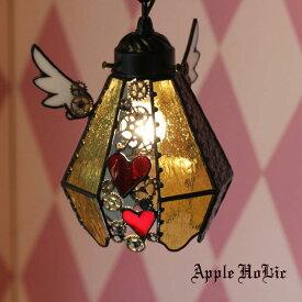 ペンダントライト 【Easter Egg Gear・イースターエッグ ギア】 LED対応 スチームパンク ステンドグラス ランプ