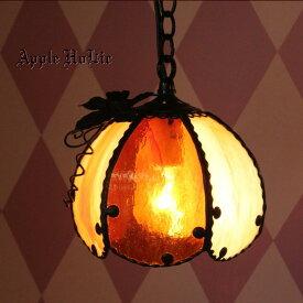 ペンダントライト 【Jack-o'-Lantern Porce・ジャック オー ランタン ポルチェ】 LED対応 ハロウィン ステンドグラス ランプ