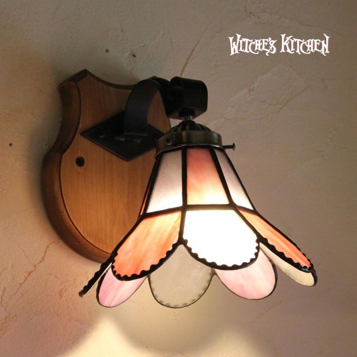ブラケットライト 【Karen・カレン】 LED対応 クラシック 木ベース 壁掛け照明 ステンドグラス ランプ