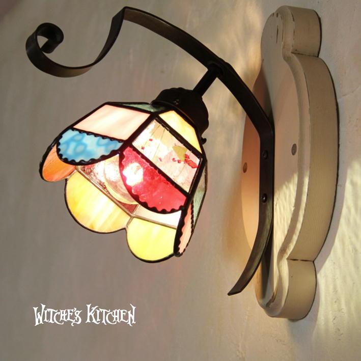 壁掛け照明 ブラケットライト 【Susie・スージー】 LED対応 ポップ 壁掛け照明 ステンドグラス ランプ