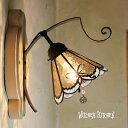 ブラケットライト 【Rosalie・ロザリー】 LED対応 リボン 壁掛け照明 ステンドグラス ランプ