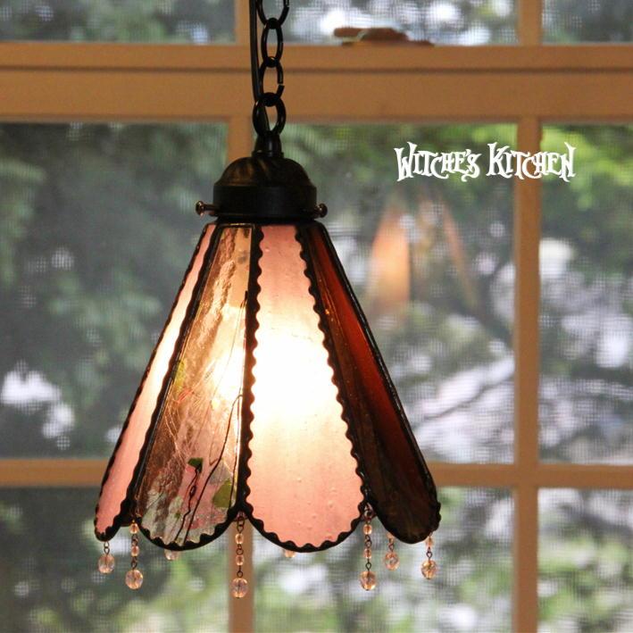 ペンダントライト 【Angelica・アンジェリカ】 LED対応 シック ステンドグラス ランプ