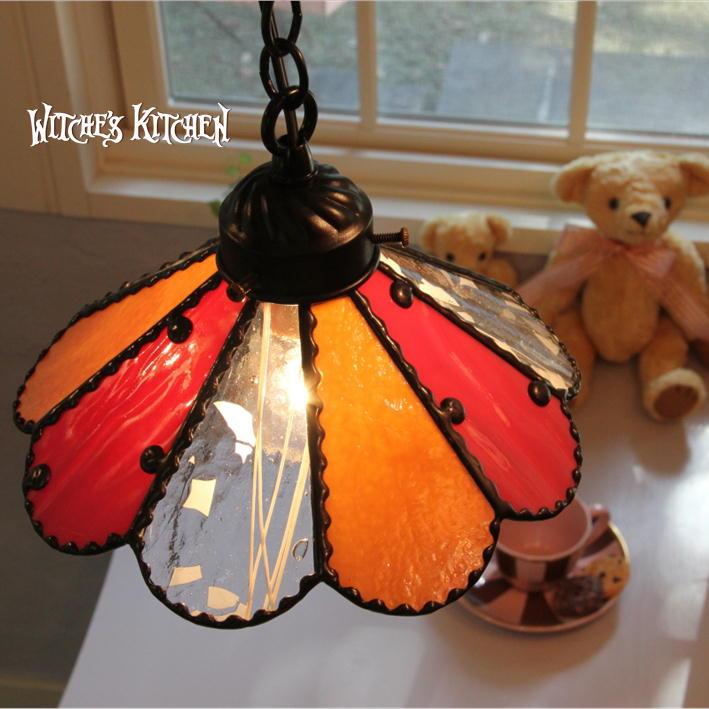 ペンダントライト 【Paeonia・ピオニー】 LED対応 フラワー 天井照明 ステンドグラス ランプ