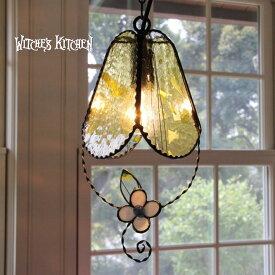 ペンダントライト ステンドグラス 【Merberry・マーベリー】 LED対応 フラワー ペンダントライト ステンドグラス ランプ