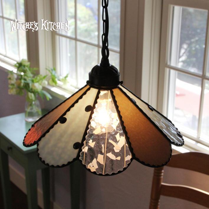 ペンダントライト 【Cloudy Crown・クラウディークラウン】 LED対応 水玉 ペンダントランプ ステンドグラス ランプ