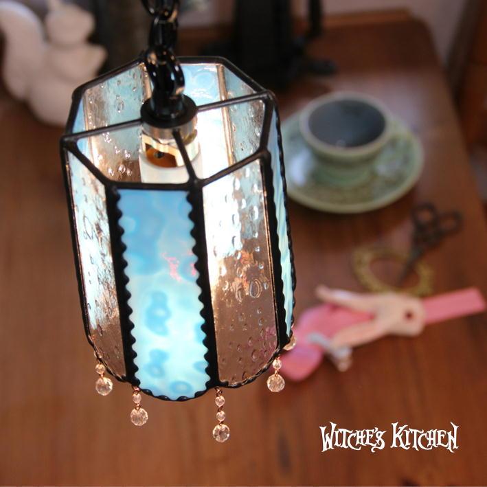 ペンダントライト 【Mercury・マーキュリー】 LED対応 ブルー ステンドグラス ランプ