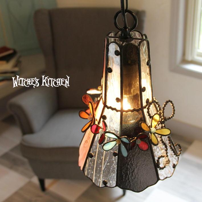 ペンダントライト 【Dolly・ドーリー】 LED対応 フラワー ステンドグラス ランプ