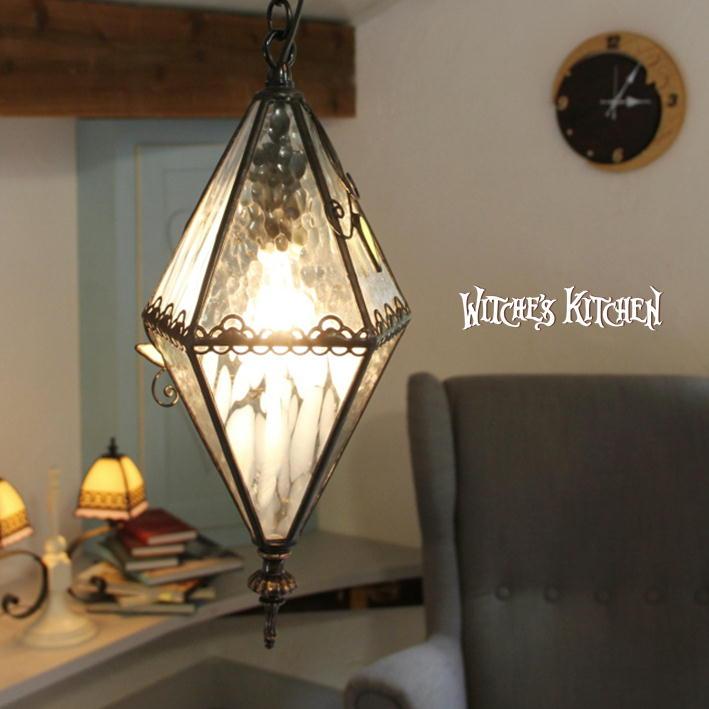 ペンダントライト 【Blandine・ブランディーヌ】 LED対応 フラワー ステンドグラス ランプ