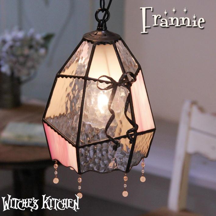 ペンダントランプ ペンダントライト 【Frannie・フラニー】 LED対応 エッグ ステンドグラス ランプ