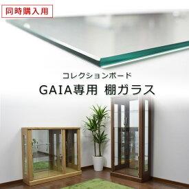 【同時購入用】コレクションボード 追加棚ガラス(GAIA専用)ダボセット 棚 コレクションケース 幅70cm 幅105cm