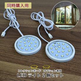 【本体同時購入用】LEDダウンライト【2個セット】コレクションボード