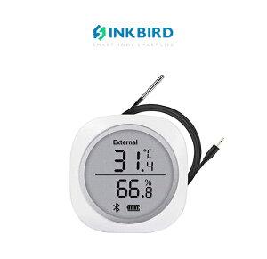 Inkbird Bluetooth ワイヤレス 温湿度計 温度計 湿度計 スマートセンサー LCD大画面 データロガー 防水外部プローブ付き アラーム付き マグネット付き グラフ記録 スマホで温度管理 湿度管理 (Inkbi