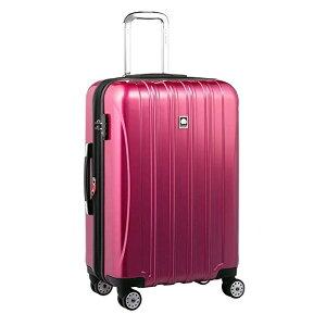 【送料無料】DELSEY (デルセー) スーツケース HELIUM AERO (ヘリウムエアロ) スーツケース キャリーケース ハードキャリーケース キャリーバッグ 紫 パープル Mサイズ 中型 79L 鏡面加工 軽量