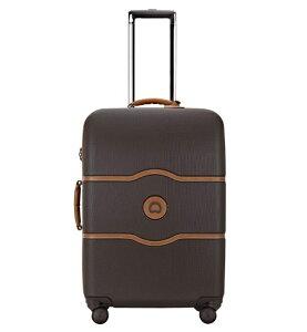 【送料無料】DELSEY デルセー CHATELET HARD+ (シャトレハードプラス) スーツケース キャリーバッグ キャリーケース 茶色 ブラウン Mサイズ 約67×45.5×28cm 中型 8輪キャスター 静音 収納袋付属 【10年