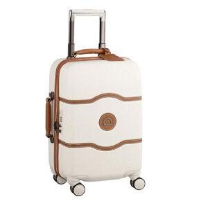 【送料無料】DELSEY(デルセー)CHATELET HARD+(シャトレハードプラス)スーツケース 機内持ち込み可 キャリーバッグ キャリーケース 白 ホワイト Sサイズ 小型 約55×35×25cm 静音 8輪キャスター