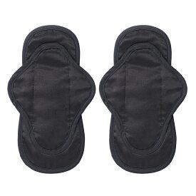 【Be-A 公式】ベア シルクナプキン 2枚セット ブラック 23cm 羽つき ナプキン シルク コットン 黒色 サテン生地 布ナプキン