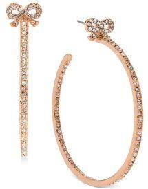 ベッツィージョンソン Betsey Johnson ピアスRose Gold-Tone Crystal Bow Hoop Earrings(ボーウ)リボン
