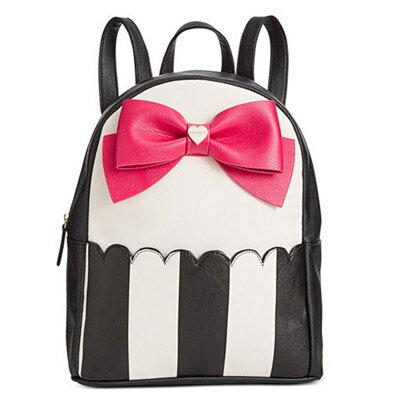 ベッツィージョンソン バックパック Betsey Johnson Bow Backpack (Stripe Fuschia) ボウ バックパック/リュック(ストライプフューシャ) レディース 新作 正規品 日本未入荷 アメリカ買付 海外通販 バッグ リュックサック