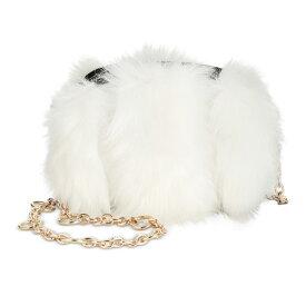ベッツィージョンソン クロスボディ Betsey Johnson BJ84210FFAUX FUH BELT BAG CROSSBODY (White) フェイクファー ベルトバッグ (ホワイト) Faux Fur Belt Bag 新作 正規品 日本未入荷 アメリカ買付 海外通販 レディース バッグ ミニバッグ チェーンバッグ