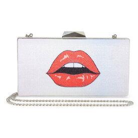 ベッツィージョンソン クラッチバッグ Betsey Johnson BJ32636ASEE ME KISS ME CLUTCH (SILVER) シー ミー キス ミー クラッチ (シルバー)