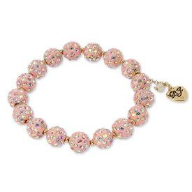 ベッツィージョンソン ブレスレット Betsey Johnson Gold-Tone Pave Fireball Stretch Bracelet (Pink) パヴェ ファイヤーボール ストレッチ ブレスレット (ピンク)