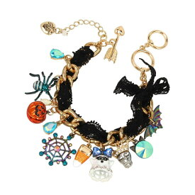ベッツィージョンソン ブレスレット Betsey Johnson 310735REAL CHARMY BRACELET (Multi) リアル チャーミー ブレスレット (マルチ) Spooky Mixed Charm Bracelet