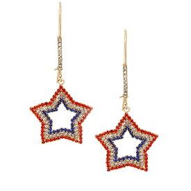 ベッツィージョンソン ピアス Betsey Johnson 318230FIREWORK FUN STAR HOOK EARRINGS (RED WHITE BLUE) ファイヤーワーク ファン スター フックピアス (レッド/ホワイト/ブルー)