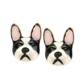 ベッツィージョンソン ピアス Betsey Johnson Gold-Tone Bulldog Earrings (Multi) ブルドッグ ピアス (マルチ)