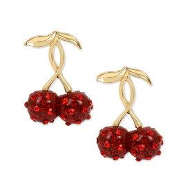 ベッツィージョンソン ピアス Betsey Johnson Gold-Tone Pave Cherry Drop Earrings (Red) パヴェ チェリー ドロップピアス (レッド) Cherry Drop Earrings