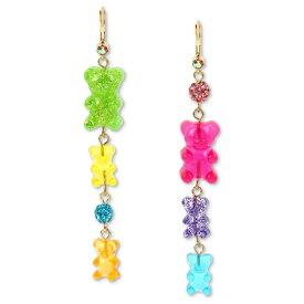 ベッツィージョンソン ピアス Betsey JohnsonGold-Tone Fireball & Gummy Bear Mismatch Linear Drop Earrings (Multi) ガミーベア ミスマッチ リニア ドロップピアス (マルチ)