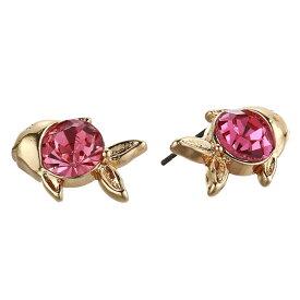 ベッツィージョンソン ピアス Betsey Johnson 306148SURFMAID FISH STUD EARRINGS (Pink) フィッシュ スタッドピアス (ピンク) Gold-Tone Crystal Fish Stud Earrings