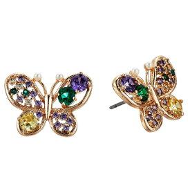 ベッツィージョンソン ピアス Betsey Johnson 288729CZ MULTI COLORED BUTTERFLY STUD EARRINGS (Multi) マルチカラー バタフライ スタッドピアス (マルチ) Multicolor Crystal Butterfly Stud Earrings