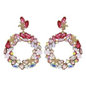 ベッツィージョンソン ピアス Betsey Johnson Starfish & Crystal Drop Hoop Earrings (Pink) スターフィッシュ クリスタル ドロップ フープ ピアス (ピンク) Gypsy Hoop Earrings