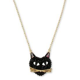 ベッツィージョンソン ネックレス Betsey Johnson Two-Tone Black Cat Pave Pendant Necklace (Black) ブラック キャット パヴェ ペンダント ネックレス (ブラック)