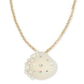 ベッツィージョンソン ネックレス Betsey Johnson SURFMAID SHELL PENDANT (Ivory) シェル ペンダント ネックレス (アイボリー) Pave & Imitation Pearl Seashell Pendant Necklace