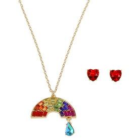 ベッツィージョンソン ネックレス/ピアス Betsey Johnson 300749RAINBOW RETRO SET (RAINBOW MULTI) レインボー レトロ ネックレス&ピアス セット (マルチ) Rainbow Pendant Necklace Stud Earrings Set