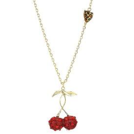 ベッツィージョンソン ネックレス Betsey Johnson Pave Cherry Pendant Necklace (Red) パヴェ チェリー ペンダント ネックレス (レッド) Cherry Necklace Pendant