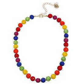 ベッツィージョンソン ネックレス Betsey JohnsonRainbow Stone Fireball Collar Necklace (Multi) レインボー ストーン ファイヤーボール カラー ネックレス (マルチ) Fireball Collar Necklace