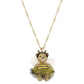 ベッツィージョンソン ネックレス Betsey Johnson Bumble Bee Pave Bear Pendant Long Necklace (Multi) バンブル ビー パヴェ ベアー ペンダント ロング ネックレス (マルチ)