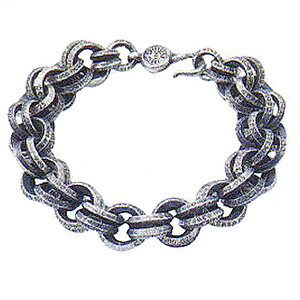 【Chrome Hearts】 クロムハーツ ブレスレット#1 ダブルB リング ブレスレット#1 Double B Ring Bracelet本物 正規品 アメリカ買付 USA直輸入