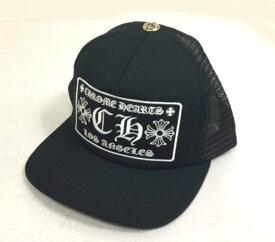 【Chrome Hearts】クロムハーツ キャップ Trucker Cap Patchwork CH/LA  Black/Black★ トラッカー ベースボール キャップ CH (ブラック/ブラック)本物 正規品 アメリカ買付 USA直輸入
