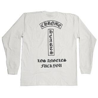 """크로무하트 긴소매 T셔츠 Long Sleeve T-Shirt """"Los Angeles Fuck You"""" FUV1 긴소매 T샤트로스안제르스팍크유 FUV1 (화이트×블랙) 신작 정규품 일본미입하 미국 구매 USA 직수입 통판"""