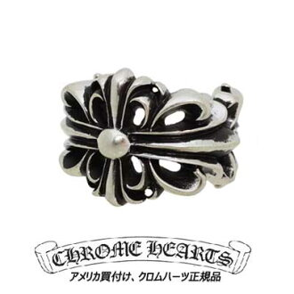 크롬 하트 Chrome Hearts 링 더블 플로랄 크로스 반지 Double Floral Cross Ring 진짜 정품 미국 구매 USA 직 수입